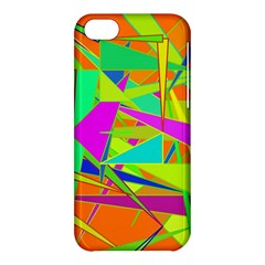 Background With Colorful Triangles Apple iPhone 5C Hardshell Case
