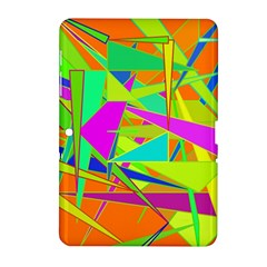 Background With Colorful Triangles Samsung Galaxy Tab 2 (10.1 ) P5100 Hardshell Case