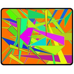 Background With Colorful Triangles Double Sided Fleece Blanket (Medium)