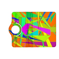 Background With Colorful Triangles Kindle Fire Hd (2013) Flip 360 Case