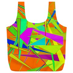 Background With Colorful Triangles Full Print Recycle Bags (L)
