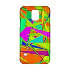 Background With Colorful Triangles Samsung Galaxy S5 Hardshell Case