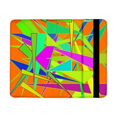 Background With Colorful Triangles Samsung Galaxy Tab Pro 8.4  Flip Case