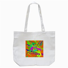 Background With Colorful Triangles Tote Bag (White)