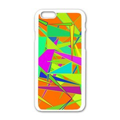 Background With Colorful Triangles Apple Iphone 6/6s White Enamel Case