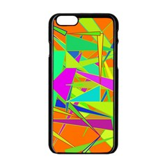 Background With Colorful Triangles Apple Iphone 6/6s Black Enamel Case