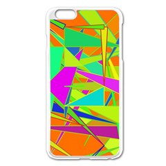 Background With Colorful Triangles Apple iPhone 6 Plus/6S Plus Enamel White Case
