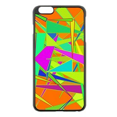 Background With Colorful Triangles Apple iPhone 6 Plus/6S Plus Black Enamel Case