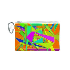 Background With Colorful Triangles Canvas Cosmetic Bag (s)