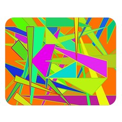 Background With Colorful Triangles Double Sided Flano Blanket (Large)