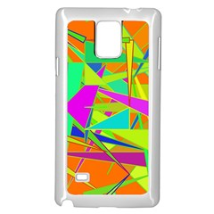 Background With Colorful Triangles Samsung Galaxy Note 4 Case (white)