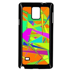 Background With Colorful Triangles Samsung Galaxy Note 4 Case (black)