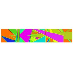 Background With Colorful Triangles Flano Scarf (Large)