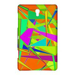 Background With Colorful Triangles Samsung Galaxy Tab S (8 4 ) Hardshell Case