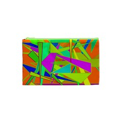 Background With Colorful Triangles Cosmetic Bag (xs)