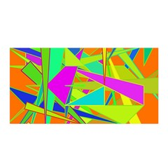 Background With Colorful Triangles Satin Wrap
