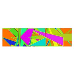 Background With Colorful Triangles Satin Scarf (oblong)