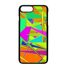 Background With Colorful Triangles Apple Iphone 7 Plus Seamless Case (black)