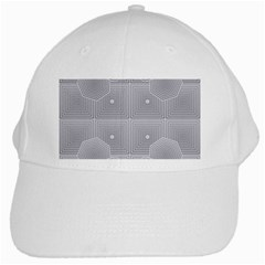 Grid Squares And Rectangles Mirror Images Colors White Cap
