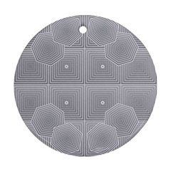 Grid Squares And Rectangles Mirror Images Colors Ornament (Round)