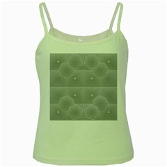 Grid Squares And Rectangles Mirror Images Colors Green Spaghetti Tank
