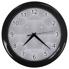 Grid Squares And Rectangles Mirror Images Colors Wall Clocks (Black)