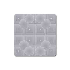 Grid Squares And Rectangles Mirror Images Colors Square Magnet