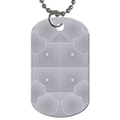 Grid Squares And Rectangles Mirror Images Colors Dog Tag (one Side)