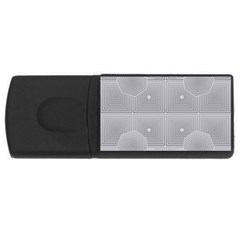 Grid Squares And Rectangles Mirror Images Colors USB Flash Drive Rectangular (1 GB)