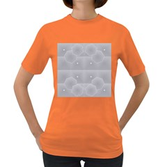 Grid Squares And Rectangles Mirror Images Colors Women s Dark T-Shirt