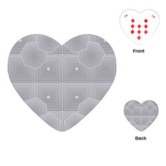 Grid Squares And Rectangles Mirror Images Colors Playing Cards (Heart)
