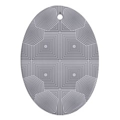Grid Squares And Rectangles Mirror Images Colors Oval Ornament (two Sides)