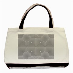 Grid Squares And Rectangles Mirror Images Colors Basic Tote Bag (two Sides)