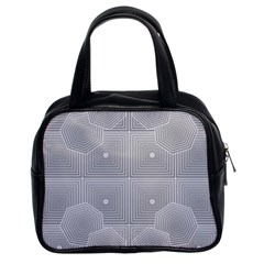 Grid Squares And Rectangles Mirror Images Colors Classic Handbags (2 Sides)