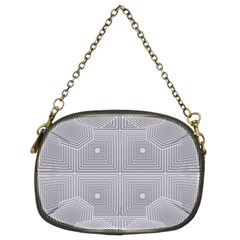 Grid Squares And Rectangles Mirror Images Colors Chain Purses (Two Sides)