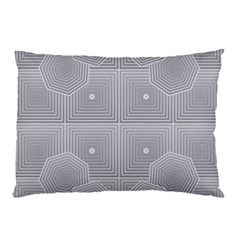 Grid Squares And Rectangles Mirror Images Colors Pillow Case