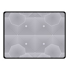 Grid Squares And Rectangles Mirror Images Colors Fleece Blanket (small)