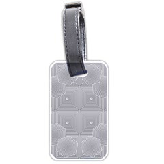 Grid Squares And Rectangles Mirror Images Colors Luggage Tags (two Sides)