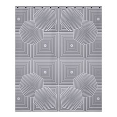 Grid Squares And Rectangles Mirror Images Colors Shower Curtain 60  X 72  (medium)