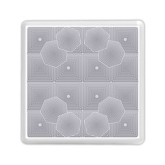 Grid Squares And Rectangles Mirror Images Colors Memory Card Reader (square)