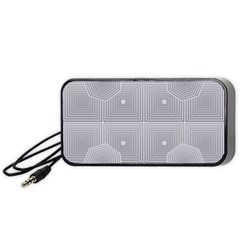 Grid Squares And Rectangles Mirror Images Colors Portable Speaker (Black)