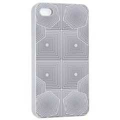 Grid Squares And Rectangles Mirror Images Colors Apple iPhone 4/4s Seamless Case (White)