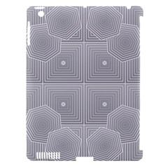 Grid Squares And Rectangles Mirror Images Colors Apple iPad 3/4 Hardshell Case (Compatible with Smart Cover)