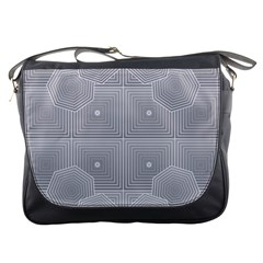Grid Squares And Rectangles Mirror Images Colors Messenger Bags