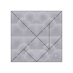 Grid Squares And Rectangles Mirror Images Colors Acrylic Tangram Puzzle (4  x 4 )