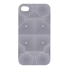 Grid Squares And Rectangles Mirror Images Colors Apple iPhone 4/4S Premium Hardshell Case