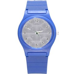 Grid Squares And Rectangles Mirror Images Colors Round Plastic Sport Watch (s)