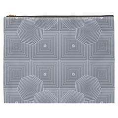Grid Squares And Rectangles Mirror Images Colors Cosmetic Bag (XXXL)