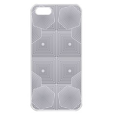 Grid Squares And Rectangles Mirror Images Colors Apple iPhone 5 Seamless Case (White)