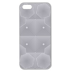 Grid Squares And Rectangles Mirror Images Colors Apple Seamless iPhone 5 Case (Clear)